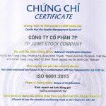 Công ty cổ phẩn 7P – Thương hiệu Song Hỷ Trà nhận chứng chỉ ISO 9001:2015